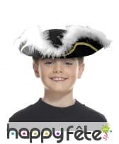 Tricorne marabout noir enfant, image 1
