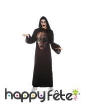 Tunique motif tête de zombie avec cagoule