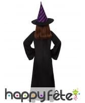 Tenue noire de petit sorcier avec col violet, image 2
