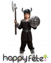Tenue noire de petit viking pour enfant