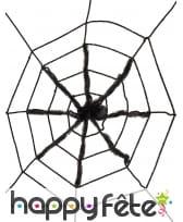 Toile noire et araignée, 130cm