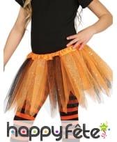 Tutu noir et orange pailletté pour enfant