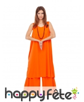 Tenue orange de bouddhiste pour femme, image 1