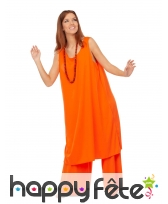 Tenue orange de bouddhiste pour femme, image 2