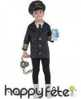 Tenue pilote de ligne pour enfant et accessoires