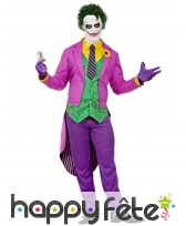 Tenue queue de pie de Joker pour adulte