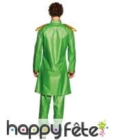 Tenue roi de la pop vert pour adulte, image 1