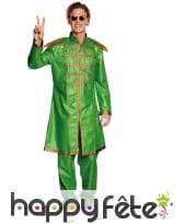 Tenue roi de la pop vert pour adulte