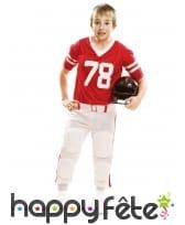 Tenue rouge de footballeur américain pour enfant
