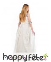 Tenue robe longue et voile Empire blanche femme, image 1