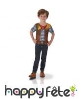 T-shirt cowboy photoréaliste pour enfant