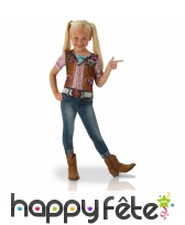 T-shirt de cowgirl pour fillette, photoréaliste