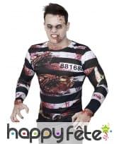 T-shirt de prisonnier Zombie photo réaliste