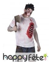 T-shirt de zombie avec côtes visibles, image 1