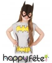 T-shirt et masque de Batgirl pour enfant