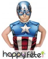 T-shirt et masque du Captain America pour enfant