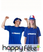 T-shirt I love france, image 1