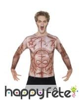 T-Shirt imprimé peau mutilée