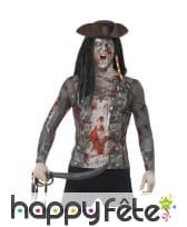 T-Shirt imprimé pirate zombie