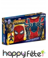 Tenue Spiderman Infinity War musclé,enfant coffret, image 1