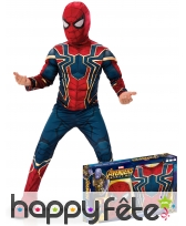 Tenue Spiderman Infinity War musclé,enfant coffret
