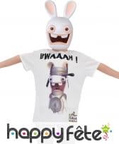 T-shirt Lapins Crétins avec masque, pour enfant