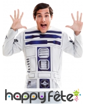 Tee-shirt manches longues R2 D2, Star Wars adulte