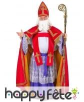 Tenue Saint Nicolas rouge et violet effet velours