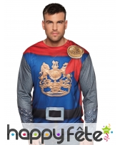 T-shirt photo réaliste chevalier pour adulte