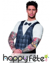 T-shirt style hipster bras tatoués