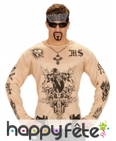 T-shirt tatouages fearless chair pour homme