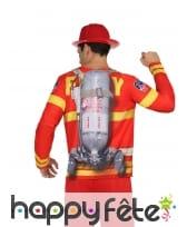 T-shirt uniforme de pompier pour adulte, image 1