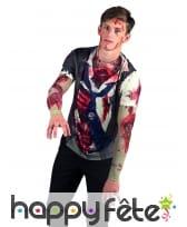 T-Shirt zombie imprimé pour homme