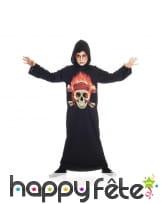 Tunique tête de mort en flamme pour enfant