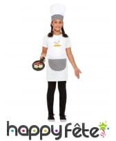 Tablier, toque et poile de cuisinier pour enfant, image 1