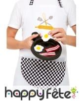 Tablier, toque et poile de cuisinier pour enfant, image 2