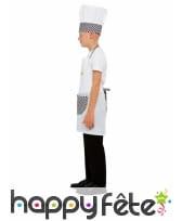 Tablier, toque et poile de cuisinier pour enfant, image 4