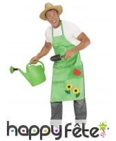 Tablier vert de jardinier