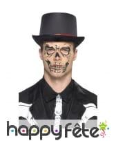 Tatouage visage de squelette éphémère