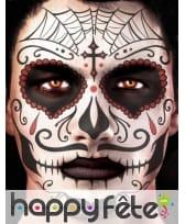 Tatouage visage Dia de los muertos masculin, image 1