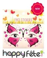 Tatouages visage de papillon pour enfant, image 1