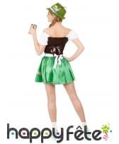 Tenue verte de serveuse bavaroise avec corset, image 2