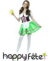 Tenue verte de serveuse bavaroise avec corset, image 3