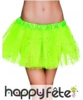 Tutu vert étoilé pour femme