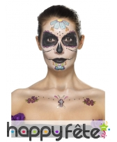 Tatouage visage Lady Calavera