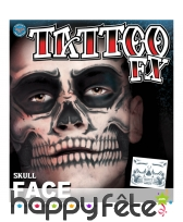 Tatouage visage squelette