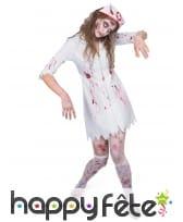 Tenue zombie d'infirmière adulte