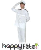 Uniforme blanc capitaine de la marine