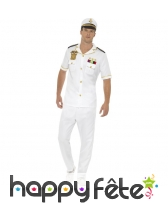 Uniforme blanc de capitaine de la marine