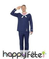 Uniforme bleu de matelot pour homme